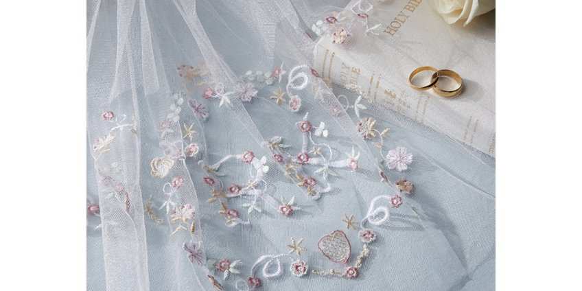 A study in white for a machine embroidered bridal veil?