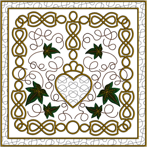 Celtic Ivy Quilt Blocks 2