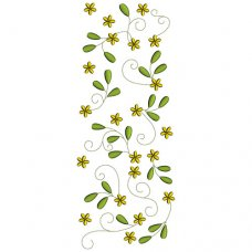 Dainty Vines Fabric Block