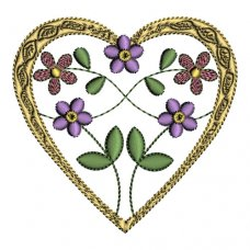 Delicate Floral Hearts 1