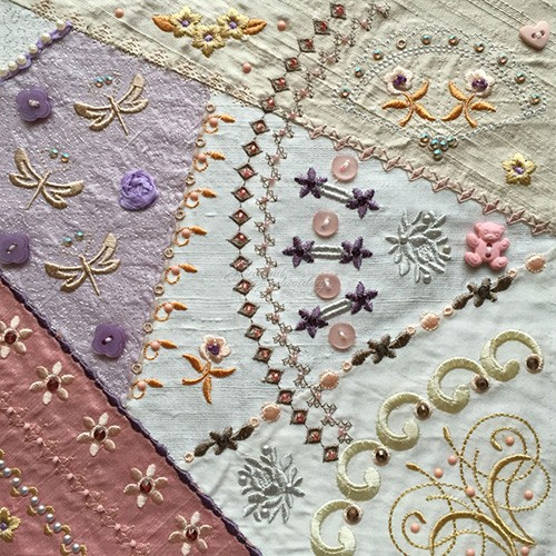 Romantic Crazy Quilt 3
