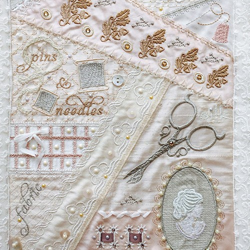 Romantic Crazy Quilt 7